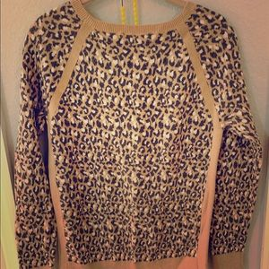 Loft animal print sweater